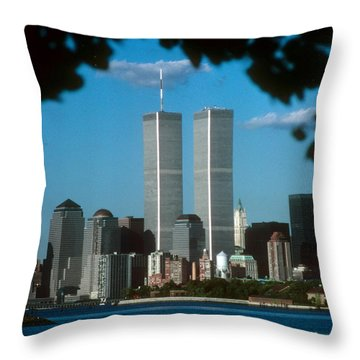 View From Liberty State Park Throw Pillow by Mark Gilman