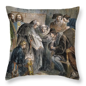 William Tyndale (1492?-1536) Throw Pillow by Granger