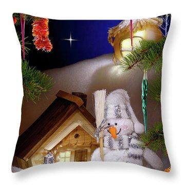 Wonderful Christmas Still Life Throw Pillow by Oleksiy Maksymenko