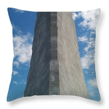 Wright Brothers Memorial Throw Pillow by Tony Cooper