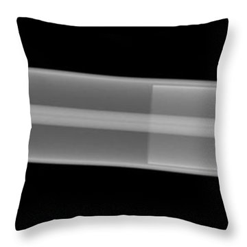 X-ray Of A Laser Tube Throw Pillow by Ted Kinsman