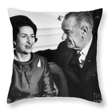 Lyndon Baines Johnson Throw Pillow by Granger