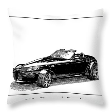 2000 Plymouth Prowler Throw Pillow by Jack Pumphrey