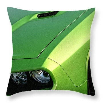 2011 Dodge Challenger Srt8 - Green With Envy Throw Pillow by Gordon Dean II