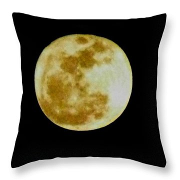 Throw Pillow featuring the photograph 2011 Full Moon by Maria Urso