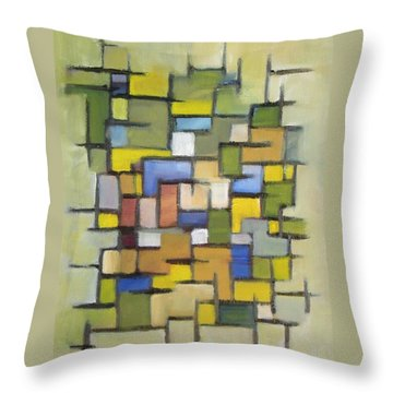 2012 Abstract Line Series Xx Throw Pillow by Patricia Cleasby