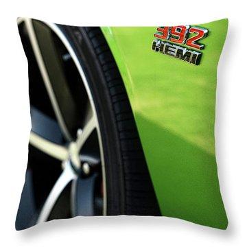 2012 Dodge Challenger 392 Hemi - Green With Envy Throw Pillow by Gordon Dean II