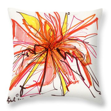 2012 Drawing #15 Throw Pillow by Lynne Taetzsch