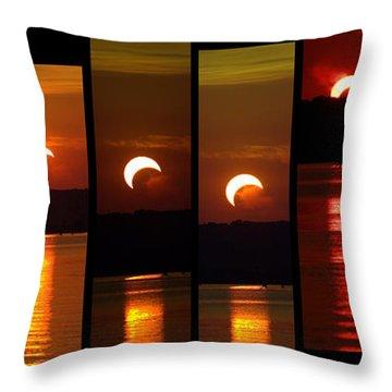 2012 Solar Eclipse Throw Pillow