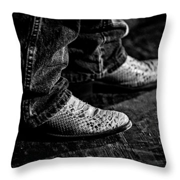 20120928_dsc00448_bw Throw Pillow by Christopher Holmes