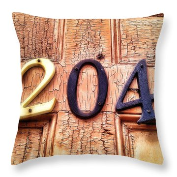 204 Throw Pillow by Olivier Calas
