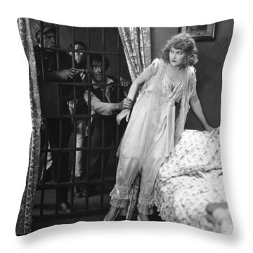 Damsel In Distress Throw Pillow by Granger