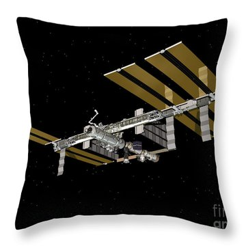 Computer Generated View Throw Pillow by Stocktrek Images