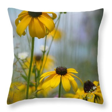Wildflowers Throw Pillow by France Laliberte