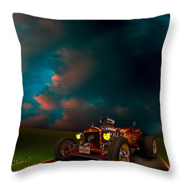 23 Model-t Ford Roadster Hot Rod Throw Pillow