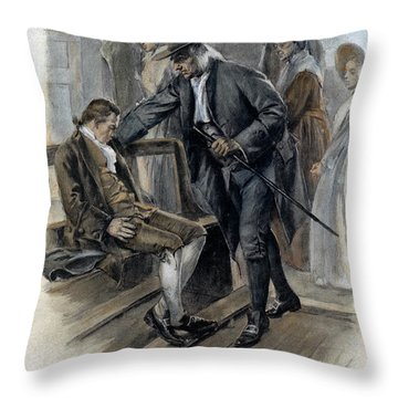 Benjamin Franklin (1706-1790) Throw Pillow by Granger