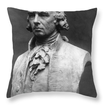 James Madison (1751-1836) Throw Pillow by Granger