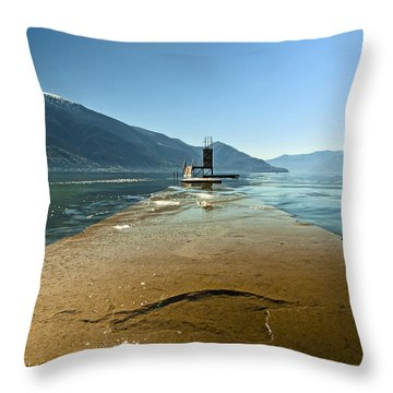 Lake Maggiore Throw Pillow by Joana Kruse