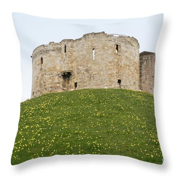 Scenes From The City Of York  Throw Pillow by Carol Ailles