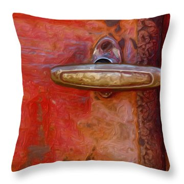 29 International Truck Handle Throw Pillow by Jack Zulli