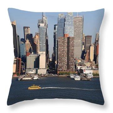 New York City Skyline Throw Pillow by Frank Romeo