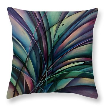 Abstract Design Throw Pillow by Michael Lang