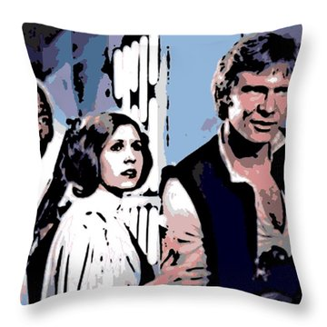 3 Aces Throw Pillow by George Pedro