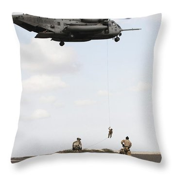 Air Force Pararescuemen Conduct Throw Pillow by Stocktrek Images