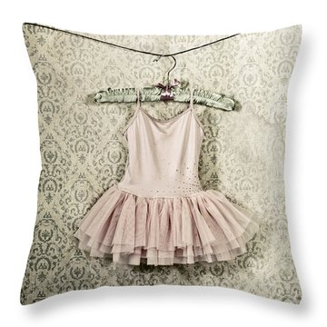 Ballet Dress Throw Pillow by Joana Kruse
