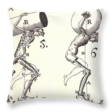 Biomechanics Throw Pillow by Science Source