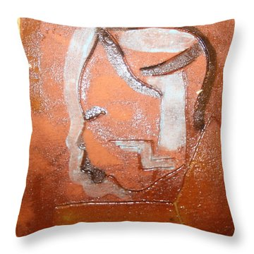 Bless - Tile Throw Pillow by Gloria Ssali