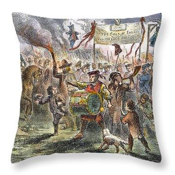 Boston: Stamp Act Riot, 1765 Throw Pillow by Granger