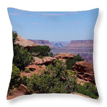 By The Canyon Throw Pillow