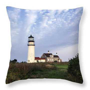 Cape Cod Light Throw Pillow by John Greim