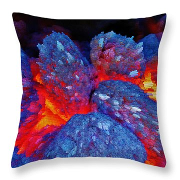 Charcoal Fire Throw Pillow