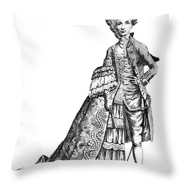 Charles Deon De Beaumont Throw Pillow by Granger