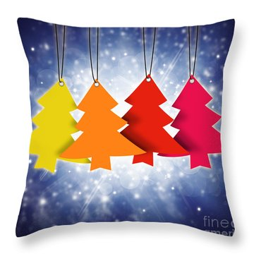 Christmas Card  Throw Pillow by Setsiri Silapasuwanchai