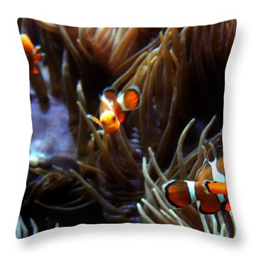3 Clowns Throw Pillow