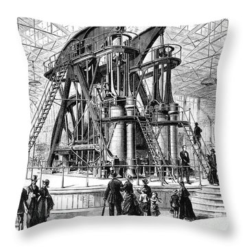 Corliss Steam Engine, 1876 Throw Pillow by Granger