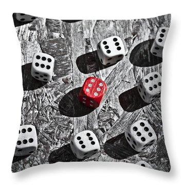 Dice Throw Pillow by Joana Kruse