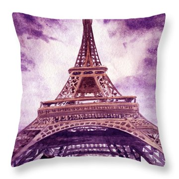Eiffel Tower Paris Throw Pillow by Irina Sztukowski