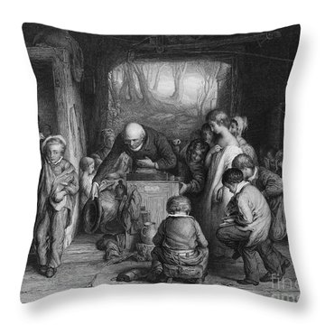 English Elementary School Throw Pillow by Granger