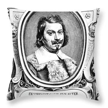Evangelista Torricelli, Italian Throw Pillow by Science Source