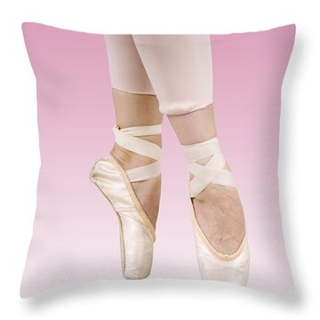 Female Dancer Throw Pillow by Ilan Rosen