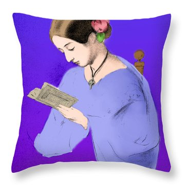 Florence Nightingale, English Nurse Throw Pillow by Science Source