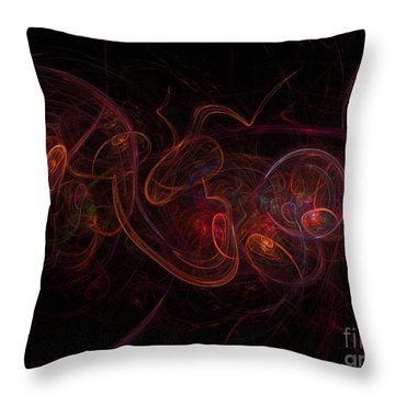 Fractal Throw Pillow by Henrik Lehnerer