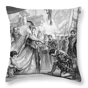 Francis Drake (1540?-1596) Throw Pillow by Granger