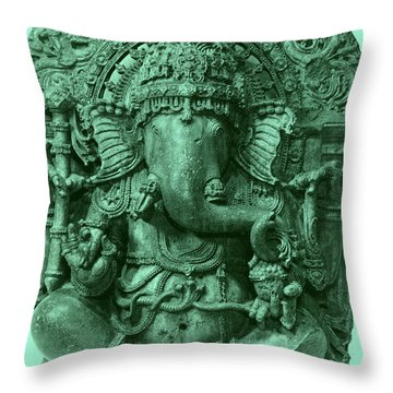 Ganesha, Hindu God Throw Pillow by Photo Researchers