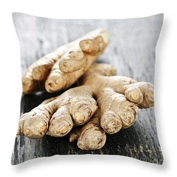 Ginger Root Throw Pillow by Elena Elisseeva