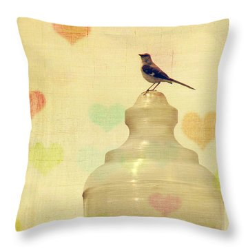 Heartsong Throw Pillow by Amy Tyler